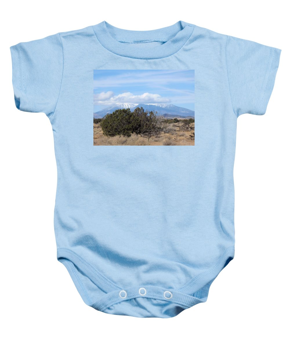 Desert Baby Onesie featuring the photograph Mountain Clouds by MTBobbins Photography