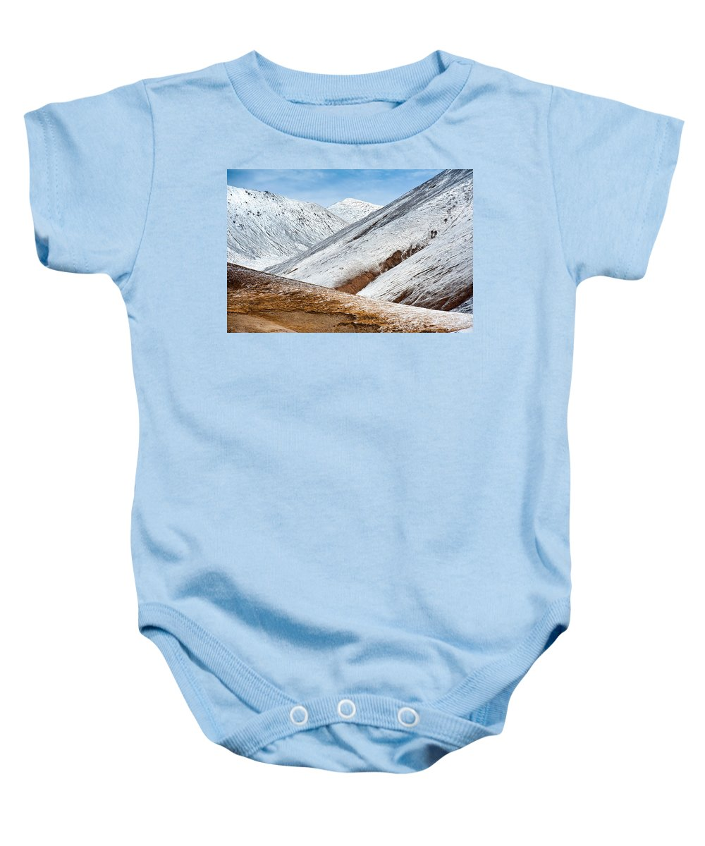 Snow Baby Onesie featuring the photograph Mountain by Kim Pin Tan