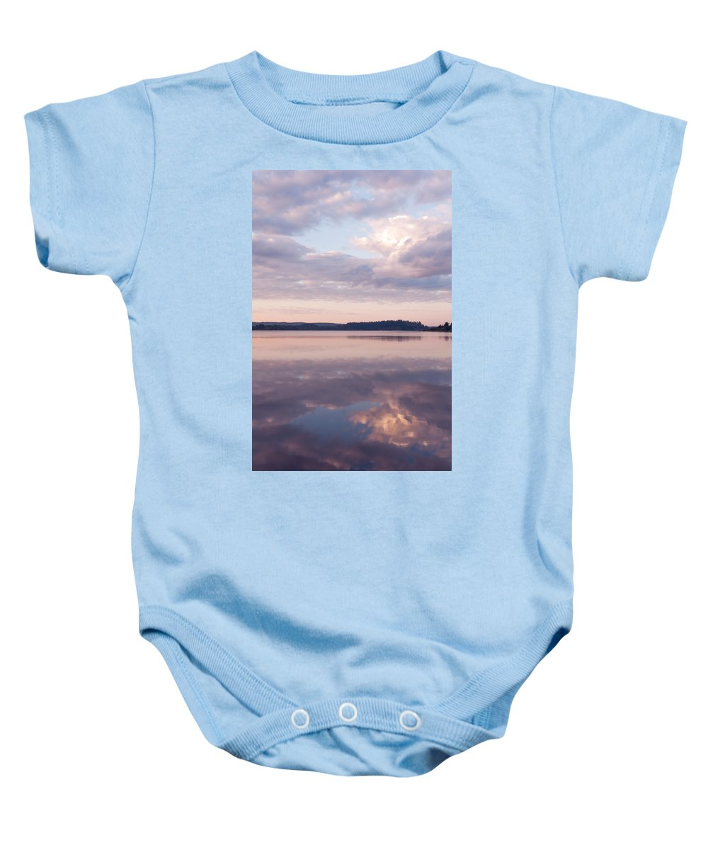 Nature Baby Onesie featuring the photograph Natural Mirror by Jenny Rainbow