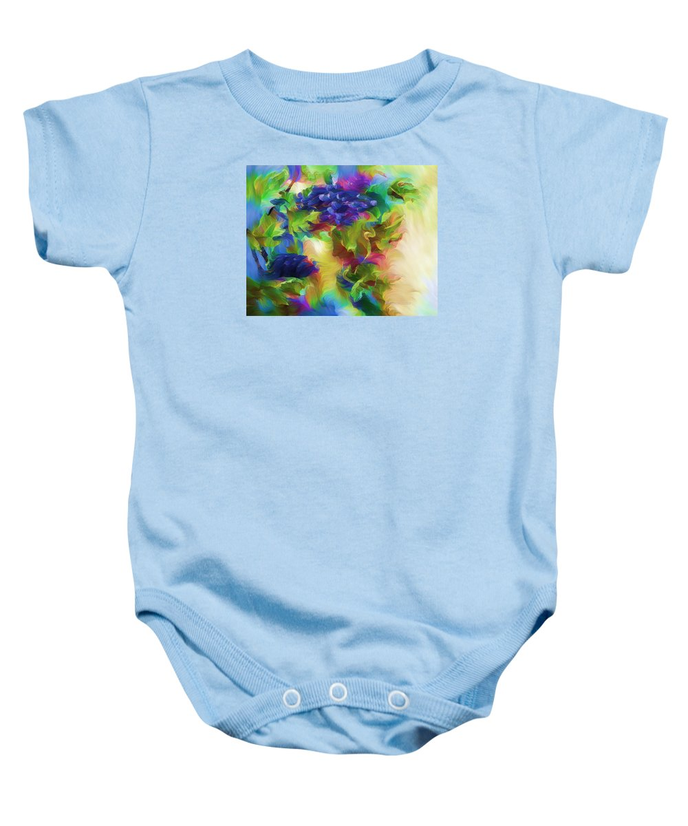 Expressionism Baby Onesie featuring the painting Nature's Contempt by Georgiana Romanovna