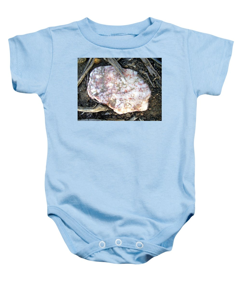 Rock Baby Onesie featuring the photograph Nature's Simple Arrangement by Jessica Foster