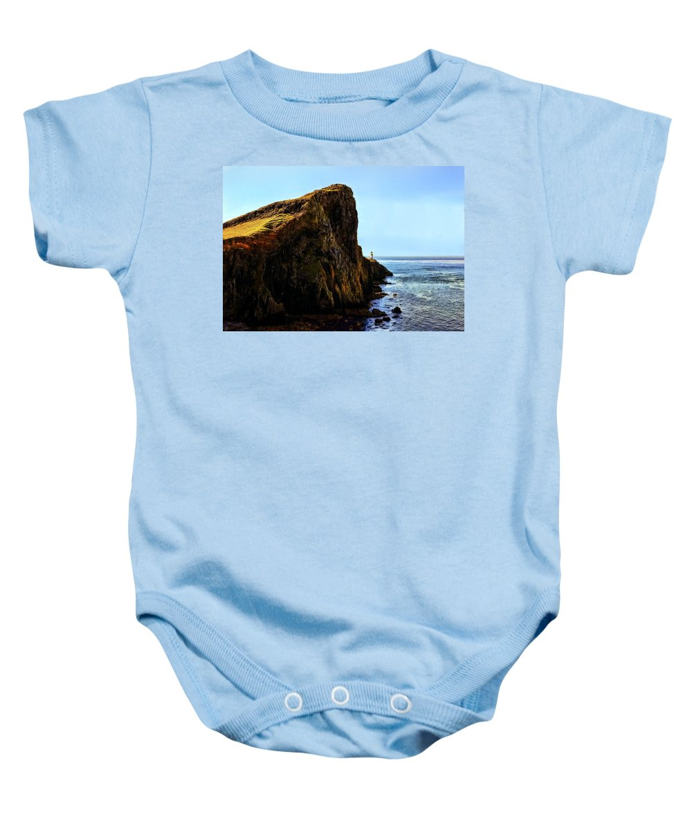 Landscape Baby Onesie featuring the photograph Neist Point by Marcia Colelli