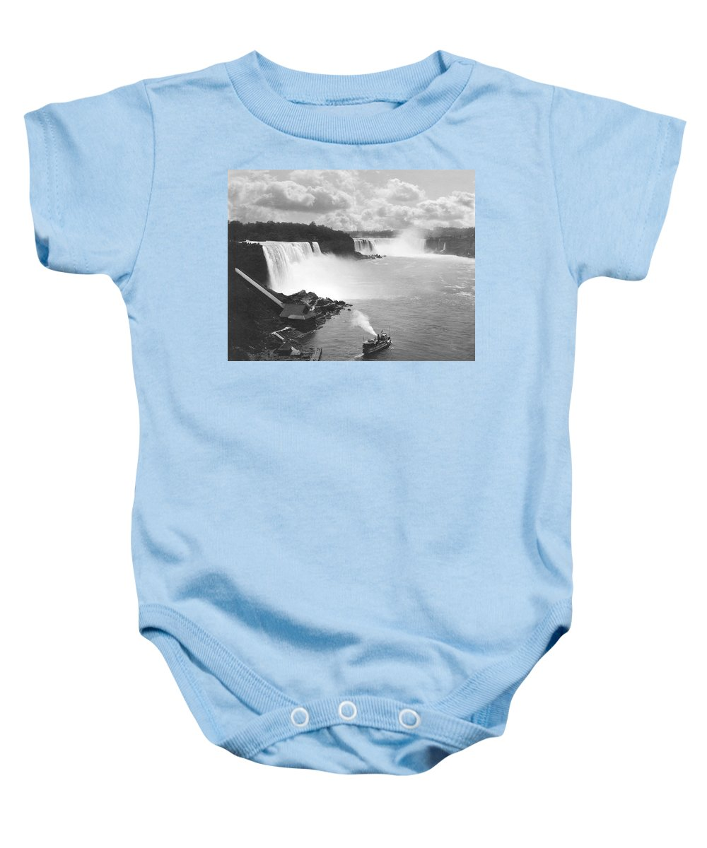 1890 Baby Onesie featuring the photograph Niagara Falls Maid Of The Mist by Underwood Archives