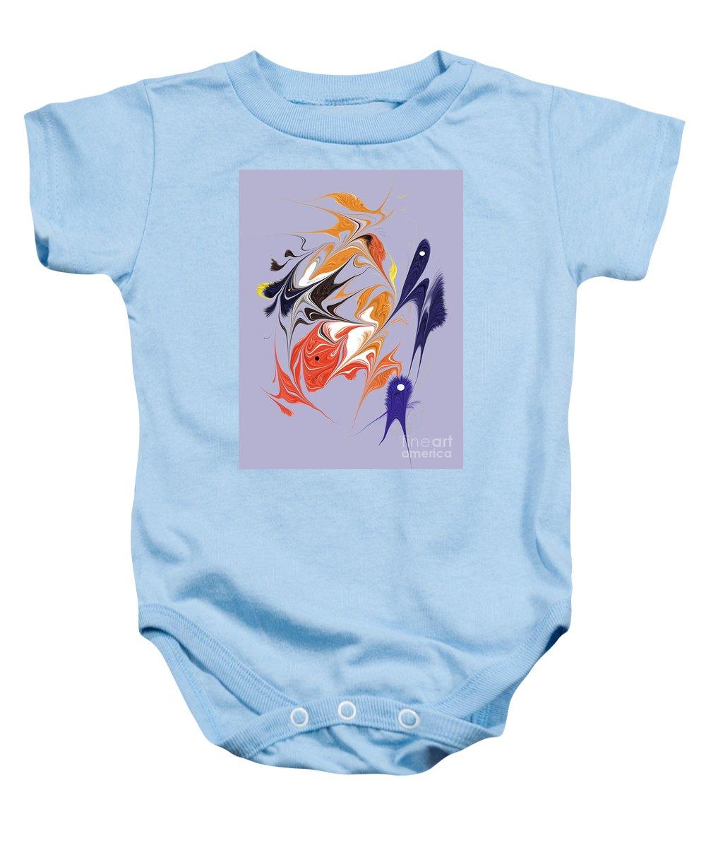 Baby Onesie featuring the digital art No. 123 by John Grieder
