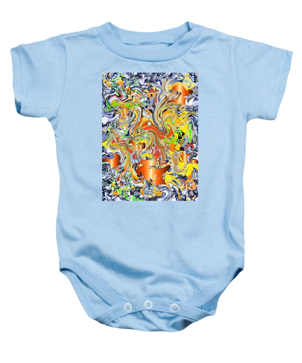 Baby Onesie featuring the digital art No. 145 by John Grieder
