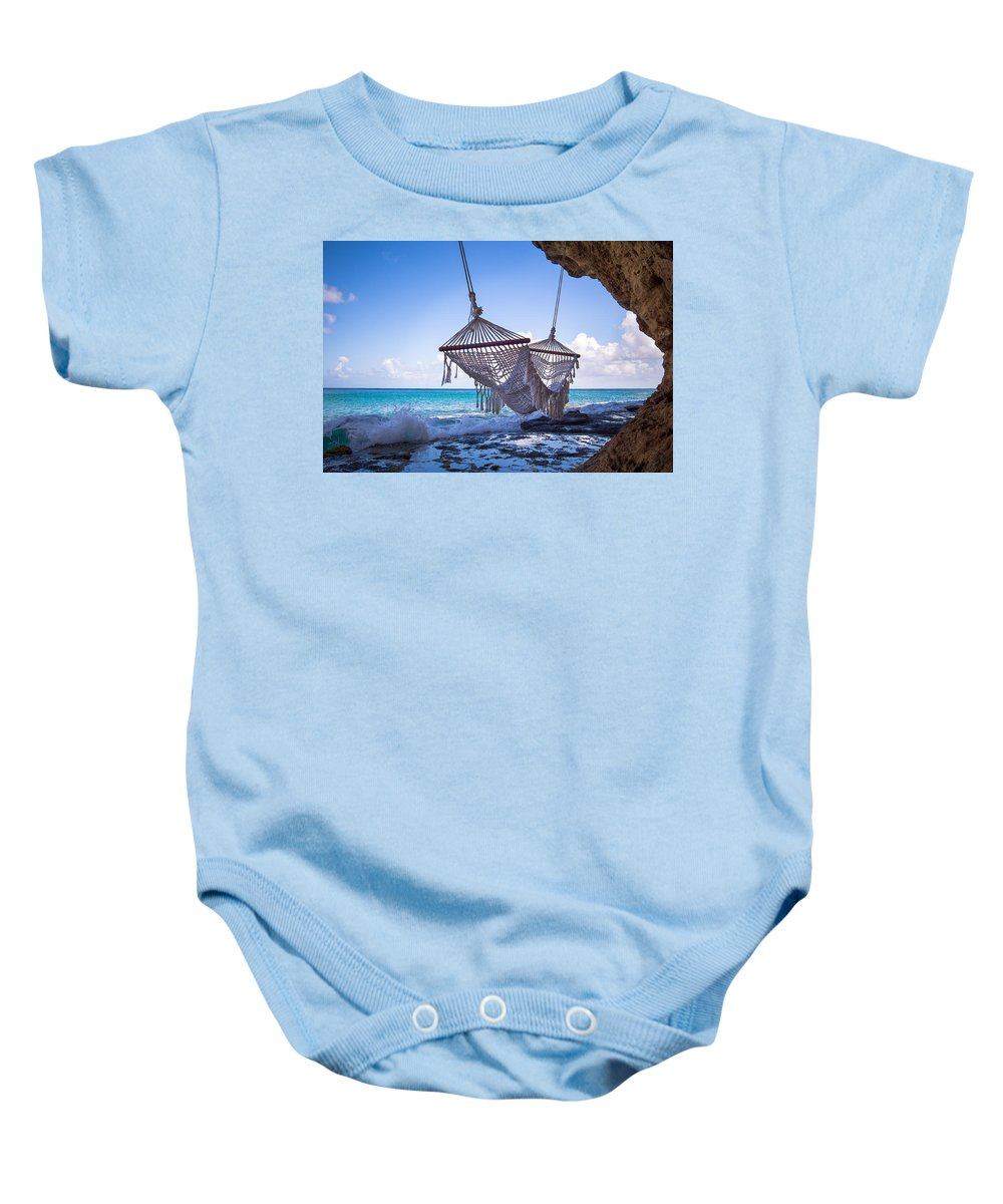 Cap Maison Baby Onesie featuring the photograph Ocean Front Hammock by Ferry Zievinger