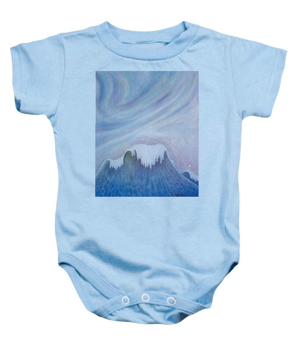 Ocean Baby Onesie featuring the painting Ocean Wave by Micah Guenther