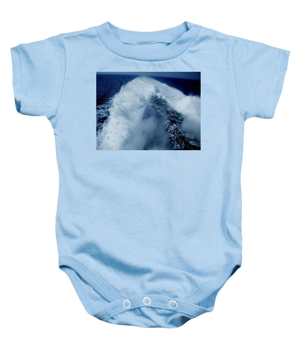 Colette Baby Onesie featuring the photograph Oceon Waves Denmark by Colette V Hera Guggenheim