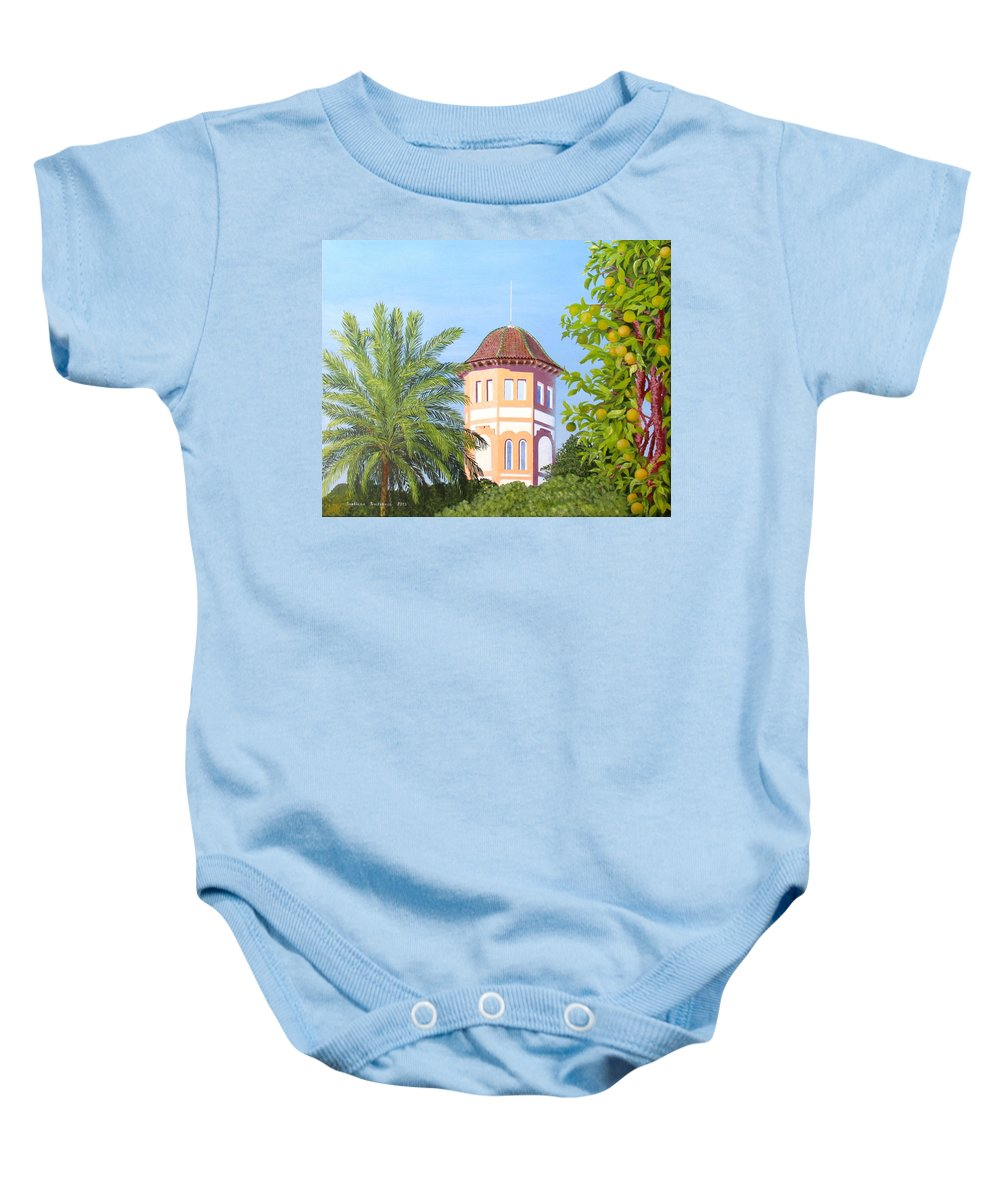 Landscape Baby Onesie featuring the painting October In Seville by Svetlana Troitskaia