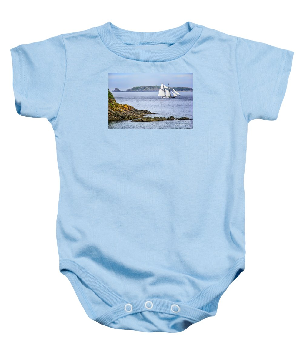 Sailboat Baby Onesie featuring the photograph Off Saint-malo by Nikolyn McDonald