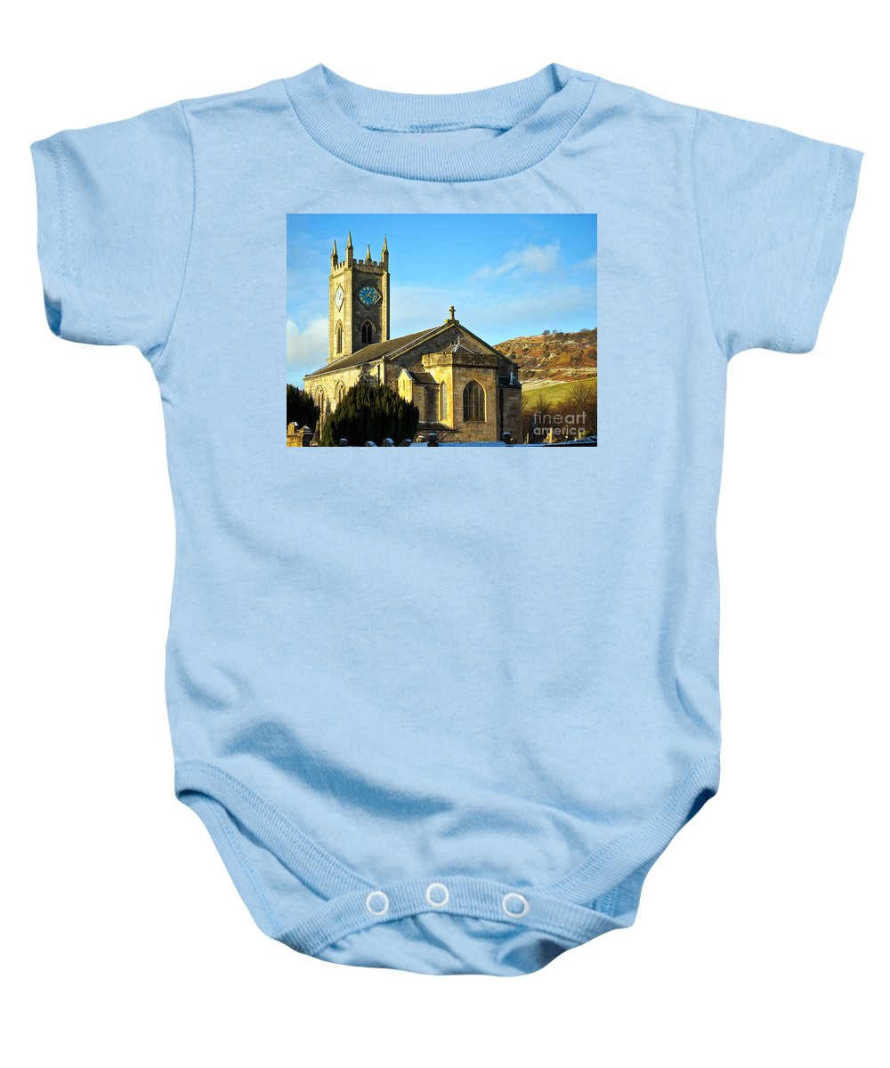 Old Baby Onesie featuring the photograph Old Kilpatrick Church 01 by Antony McAulay