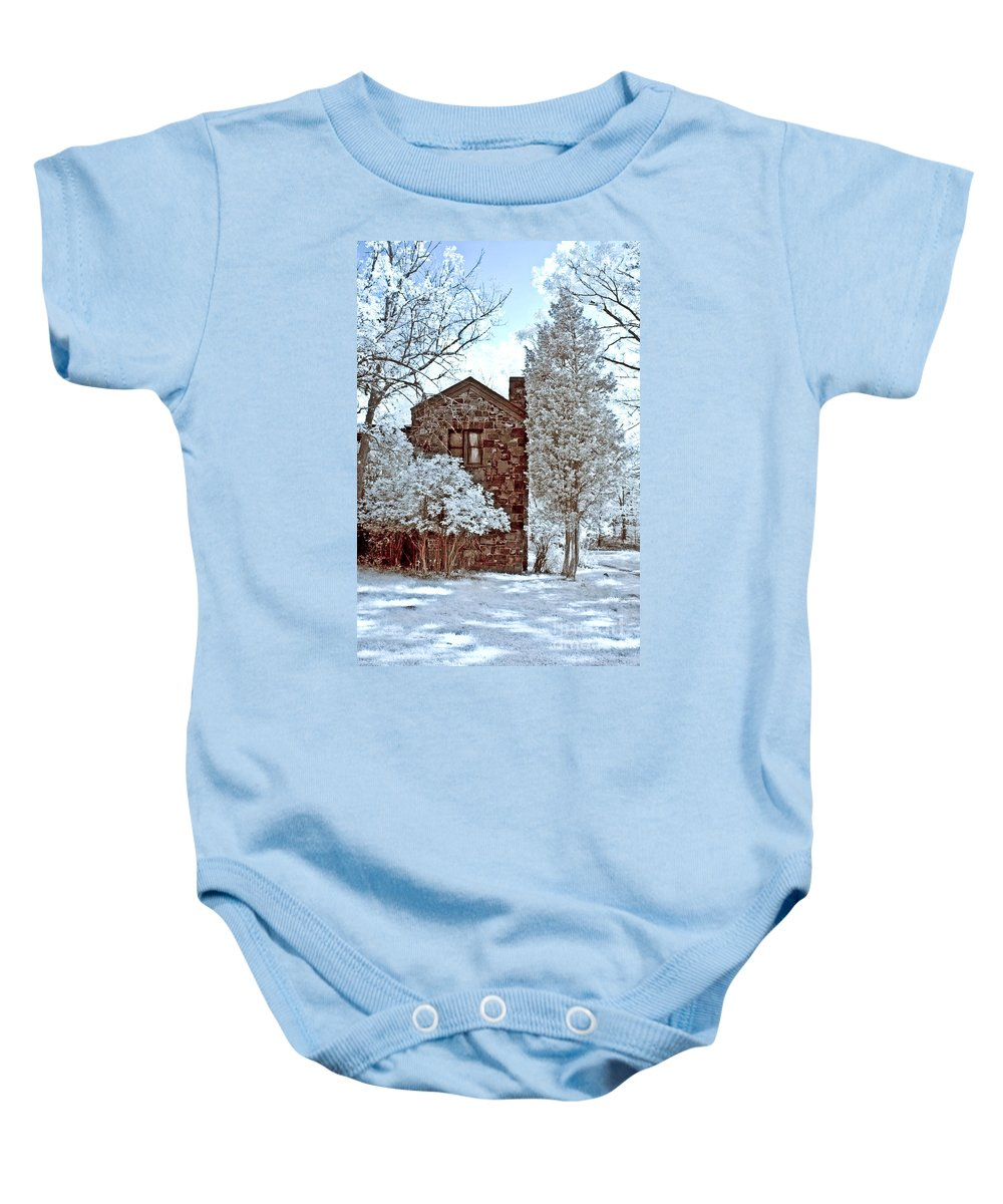 Trees Baby Onesie featuring the photograph Old Stone House by Anthony Sacco