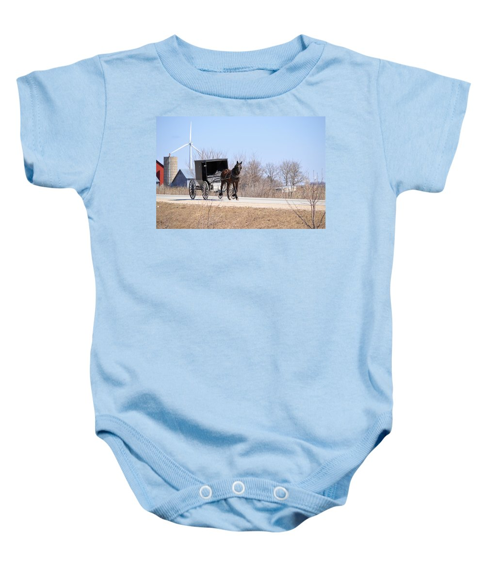 Amish Baby Onesie featuring the photograph Old Ways by Bonfire Photography