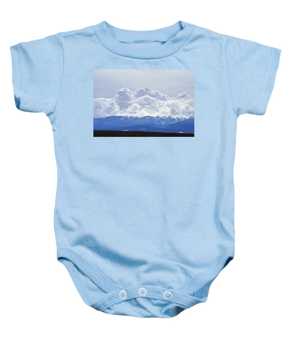 14ers Baby Onesie featuring the photograph Ominous Beginning by Jeremy Rhoades