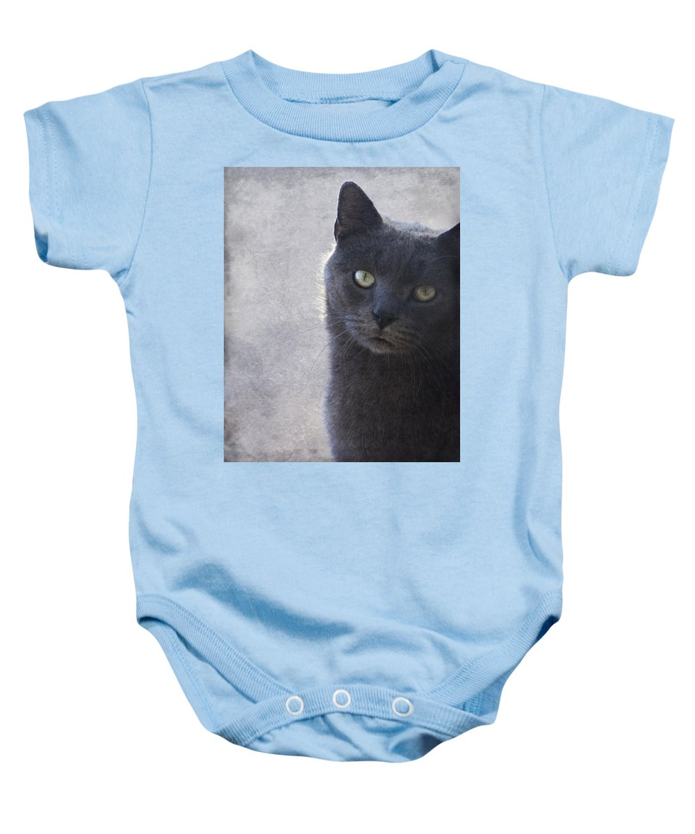 Russian Baby Onesie featuring the photograph One Of Those Mysterious Blue Days by Kathy Clark