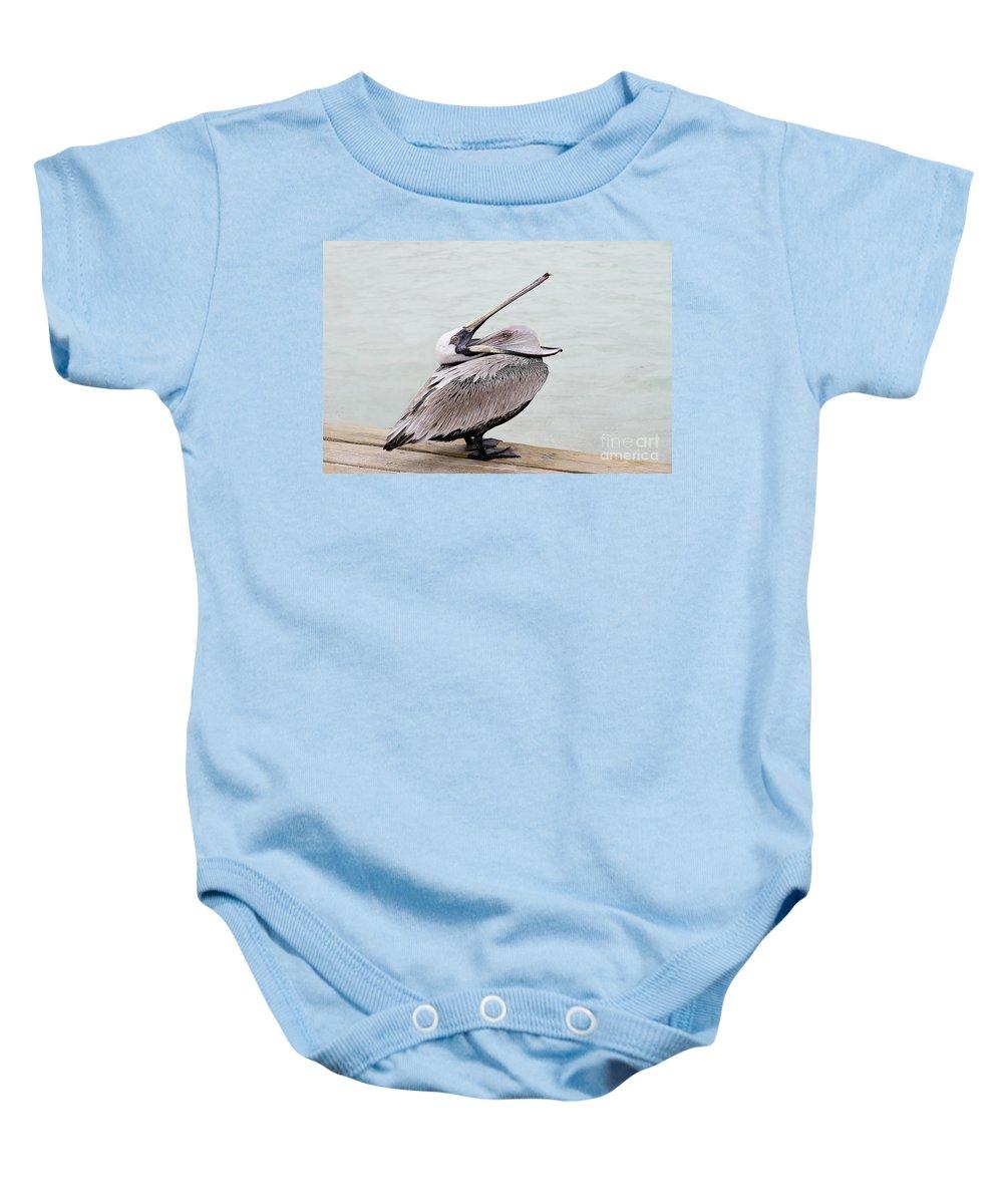 Bird Baby Onesie featuring the photograph Open Wide by Teresa Zieba
