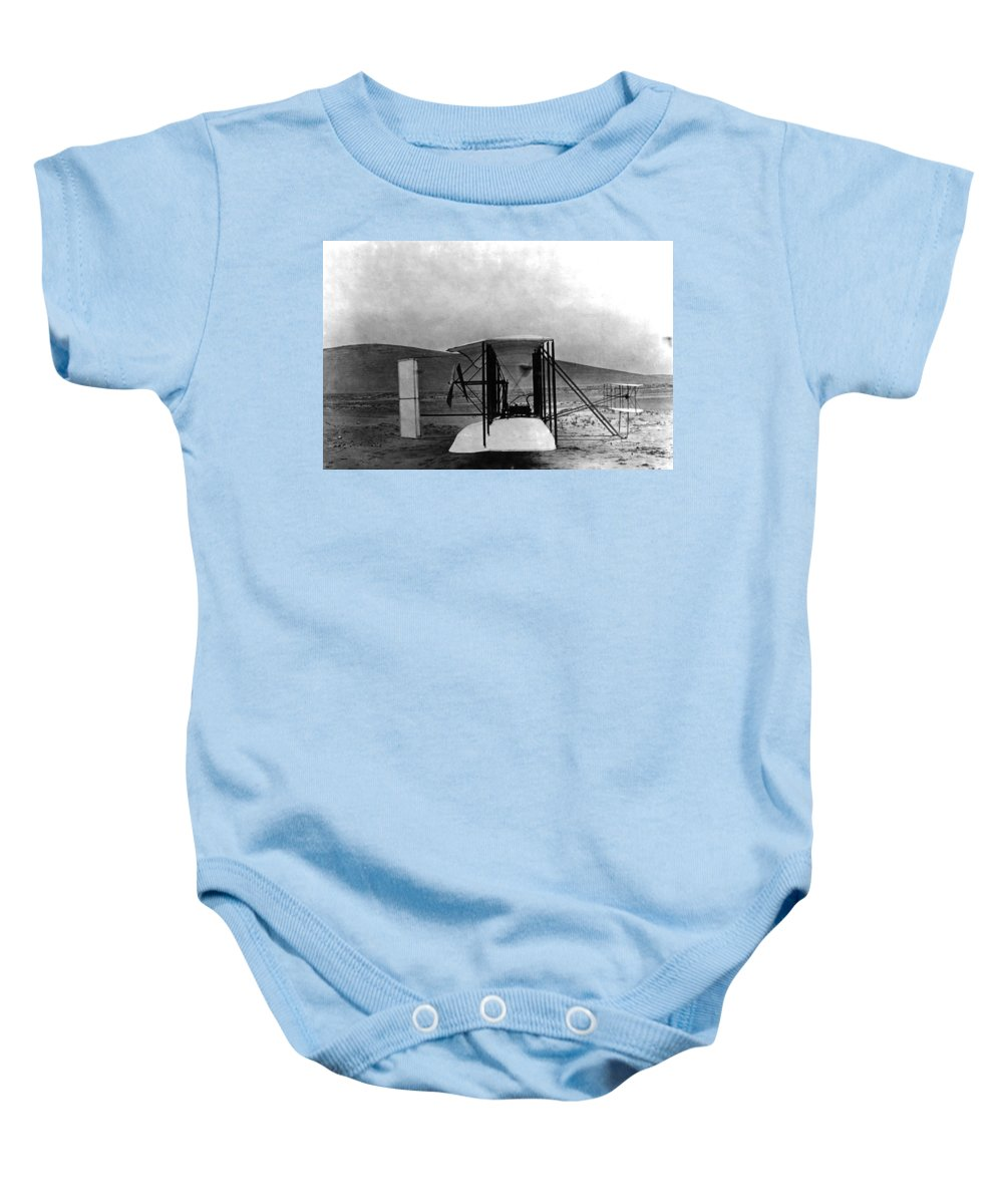 Science Baby Onesie featuring the photograph Original Wright Airplane, 1903 by Science Source