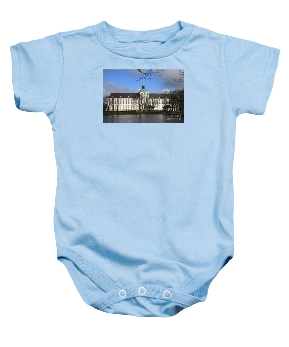 Palace Baby Onesie featuring the photograph Palace Gottorf - Schleswig by Christiane Schulze Art And Photography