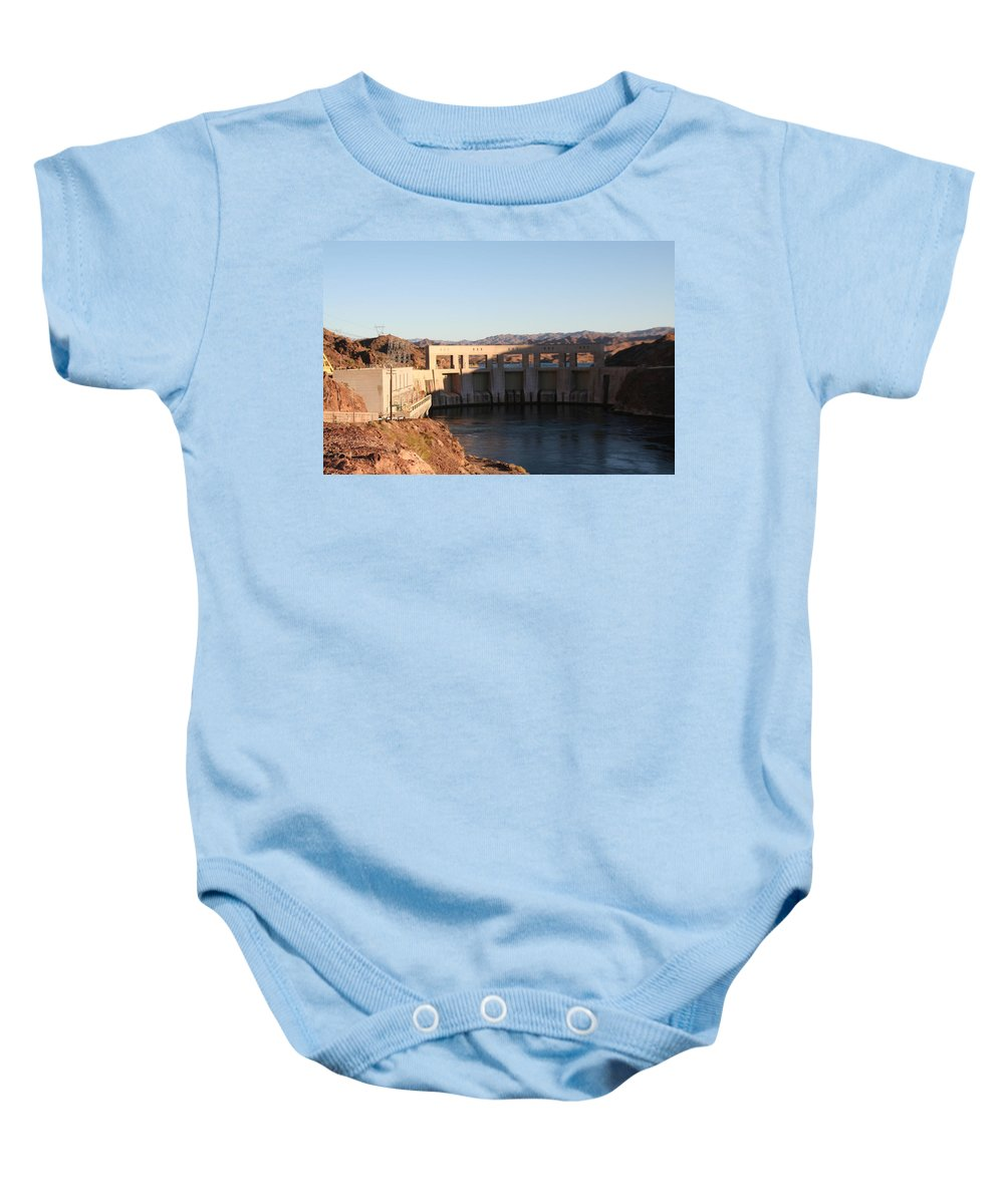 Dam Baby Onesie featuring the photograph Parker Canyon Dam by David S Reynolds