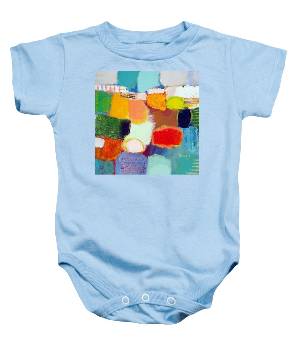 Peace Baby Onesie featuring the painting Peace And Joy 1 by Habib Ayat