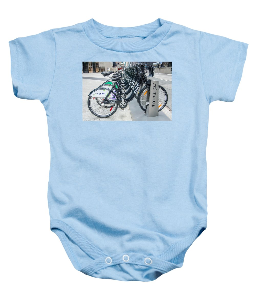Guy Whiteley Photography Baby Onesie featuring the photograph Pedal Power by Guy Whiteley