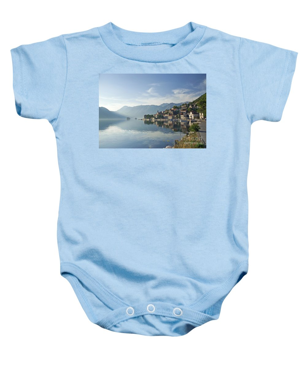 Architecture Baby Onesie featuring the photograph Perast Village In The Bay Of Kotor In Montenegro by Jacek Malipan