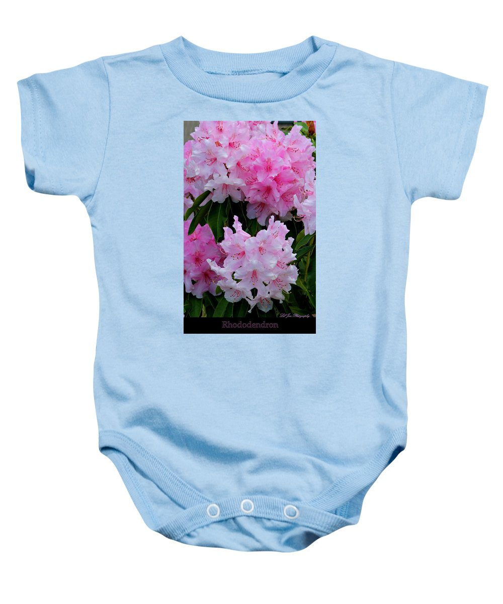 Flower Baby Onesie featuring the photograph Pink Rhododendrons by Jeanette C Landstrom