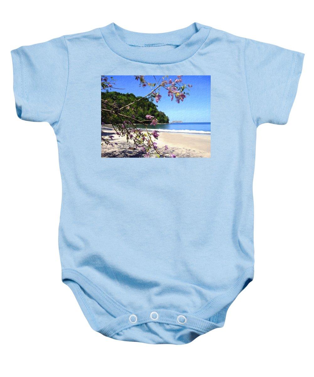 Beach Baby Onesie featuring the photograph Playa Espadillia Sur Manuel Antonio National Park Costa Rica by Kurt Van Wagner