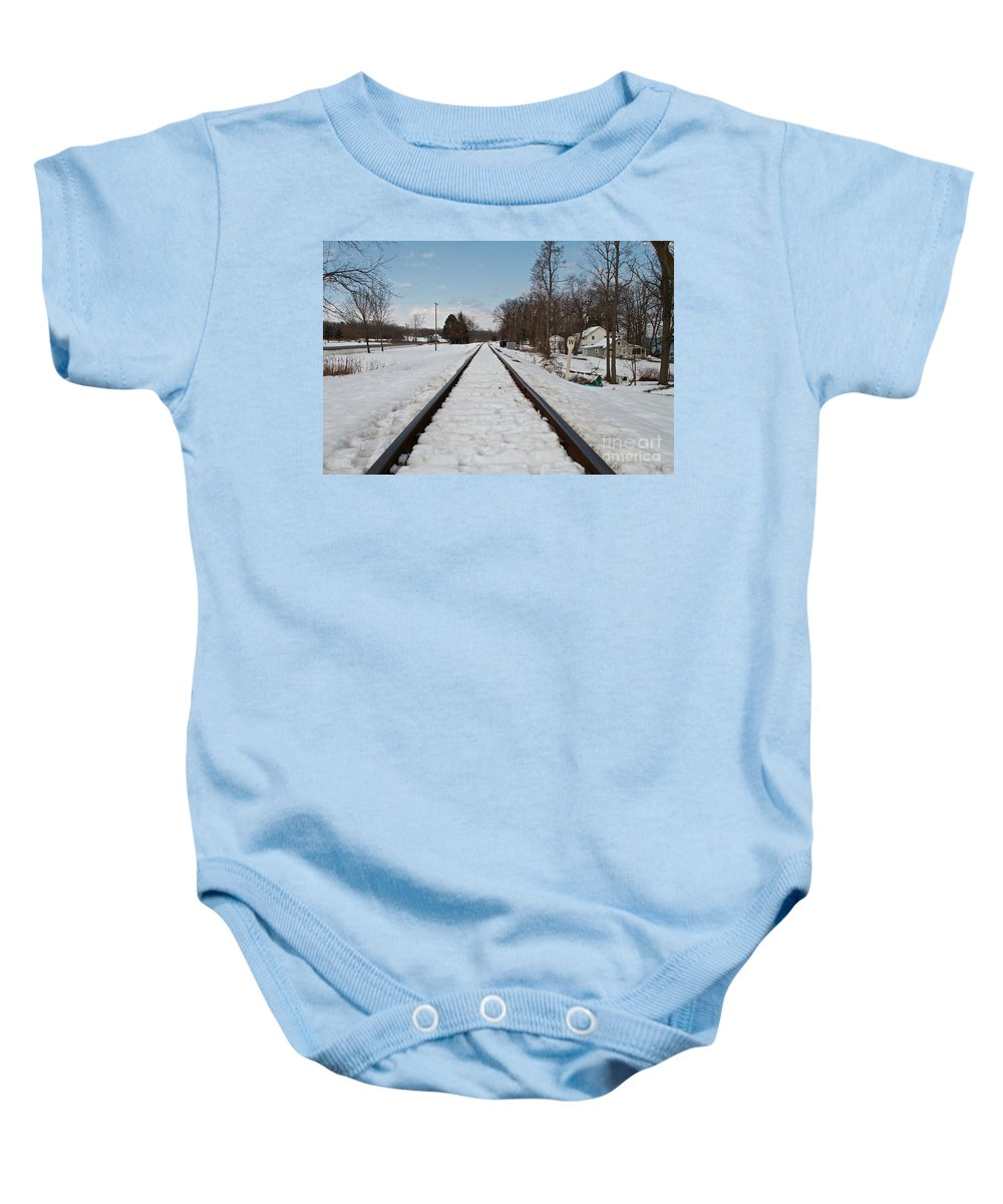 Winter Baby Onesie featuring the photograph Plowed by William Norton