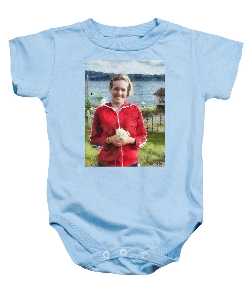 Canadian Baby Onesie featuring the painting Portrait In Newfoundland by Jeffrey Kolker