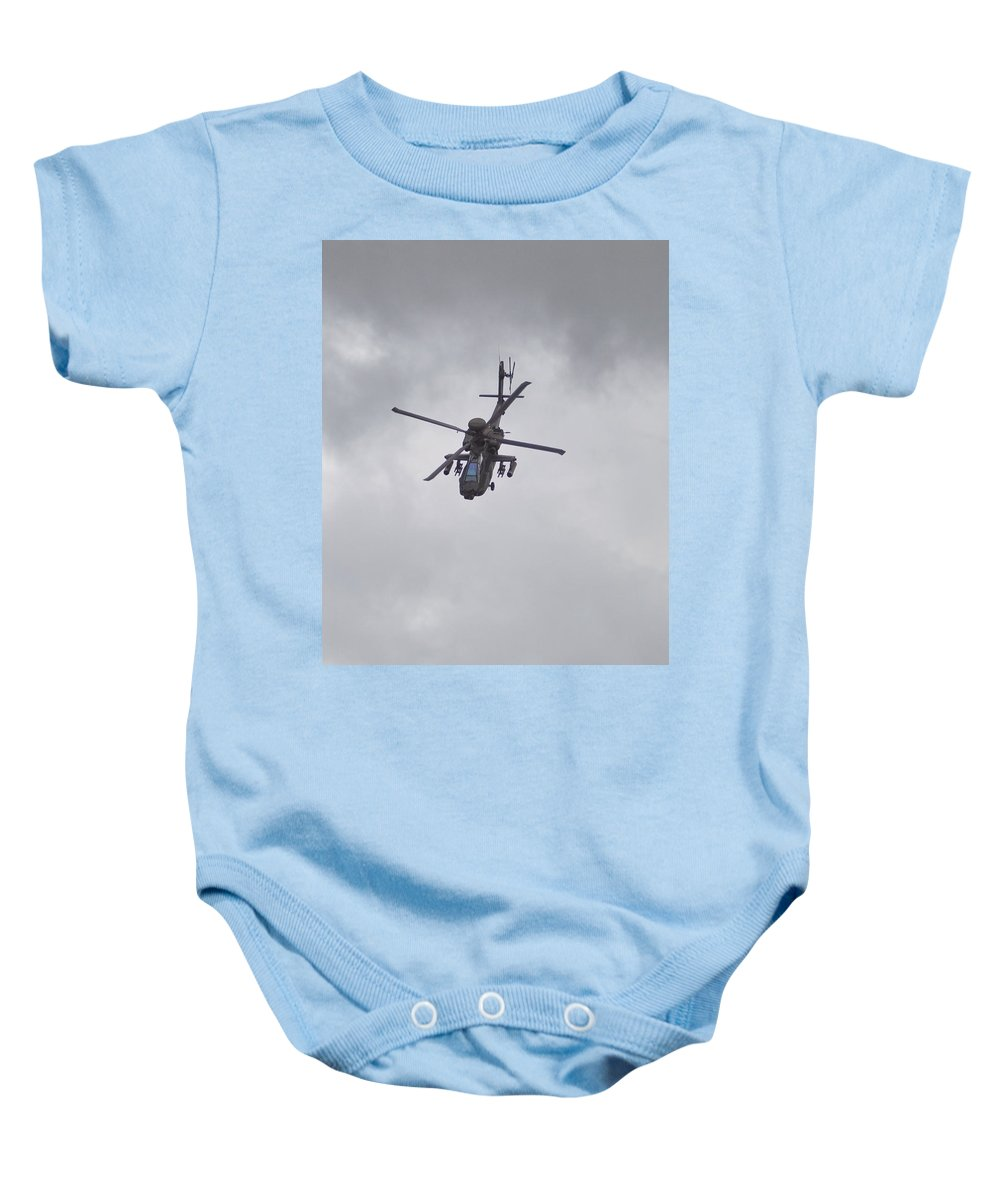 Apache Baby Onesie featuring the photograph Power On Show by Maj Seda