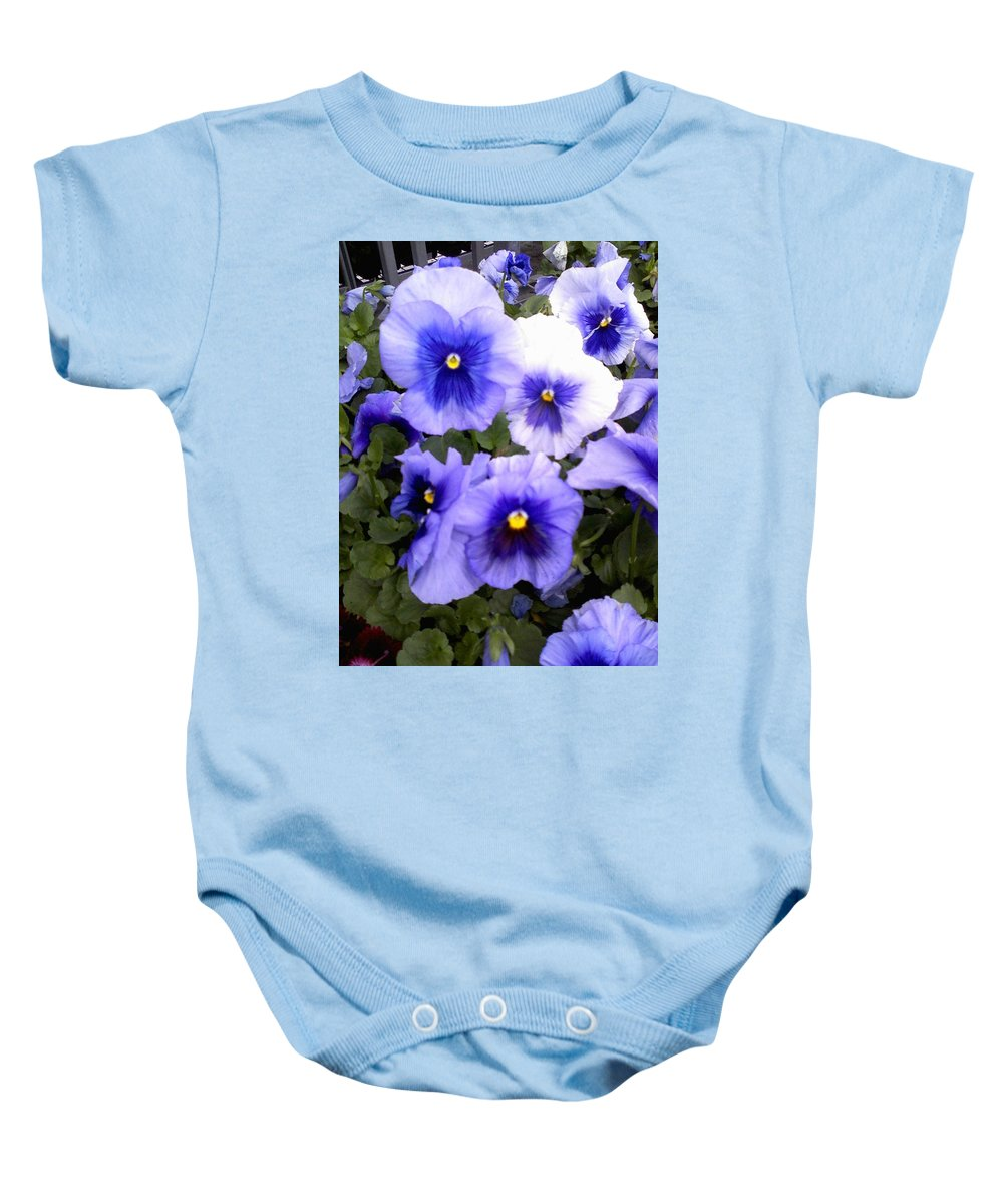 Flowers Baby Onesie featuring the photograph Purple Morning Glory by Fortunate Findings Shirley Dickerson