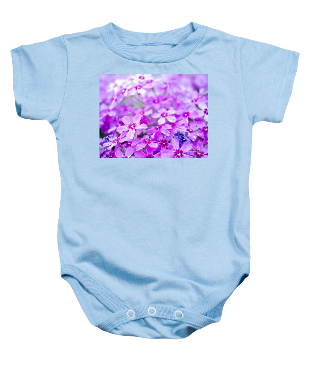 Blossom Baby Onesie featuring the photograph Purple Wildflower by Andrea Anderegg