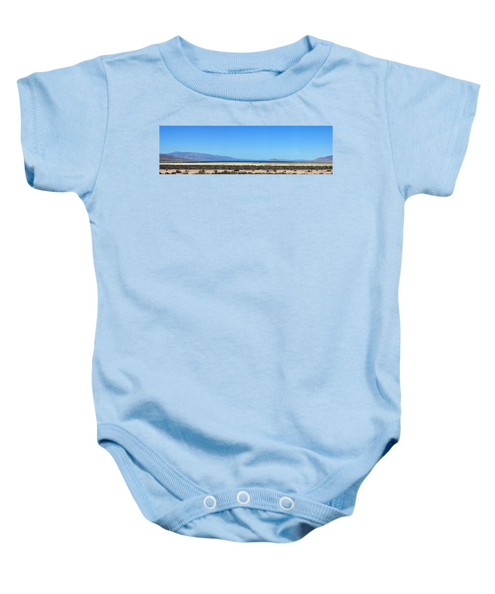 Pyramid Lake Baby Onesie featuring the photograph Pyramid Lake by Brent Dolliver