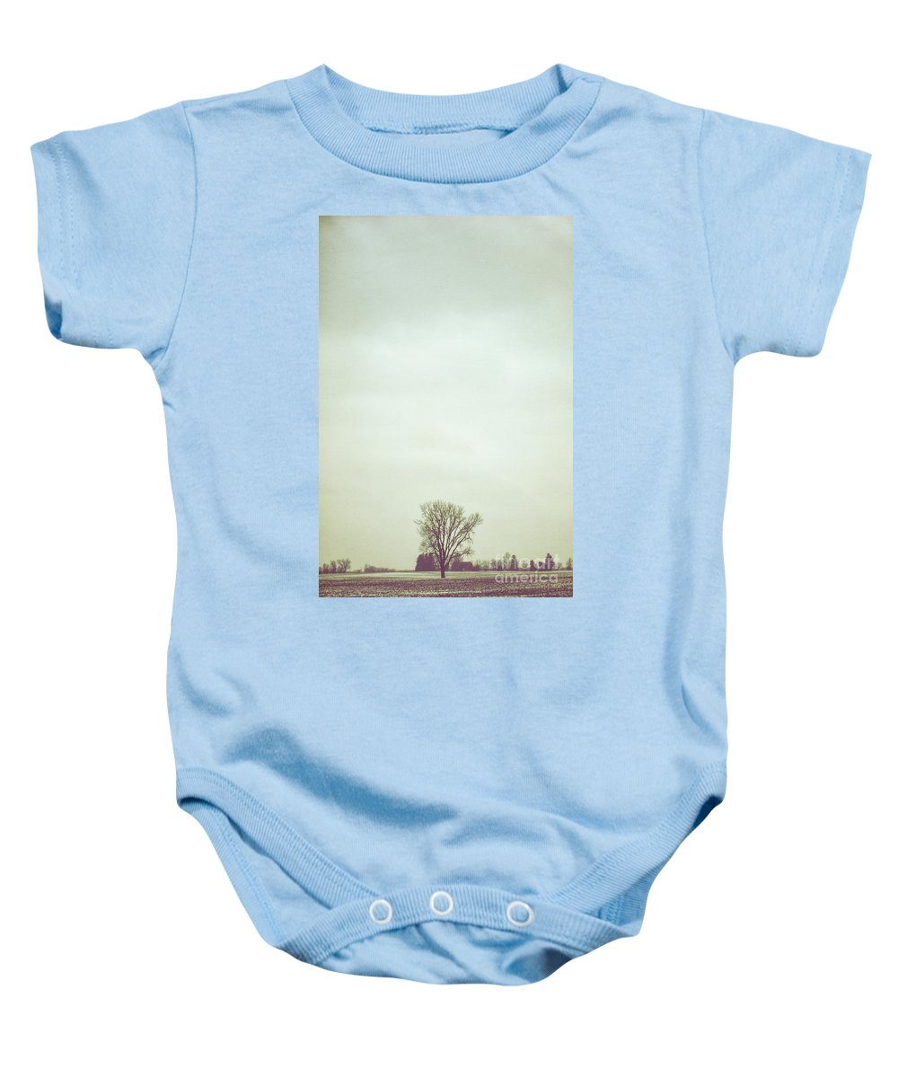 Tree Baby Onesie featuring the photograph Red Barn by Margie Hurwich