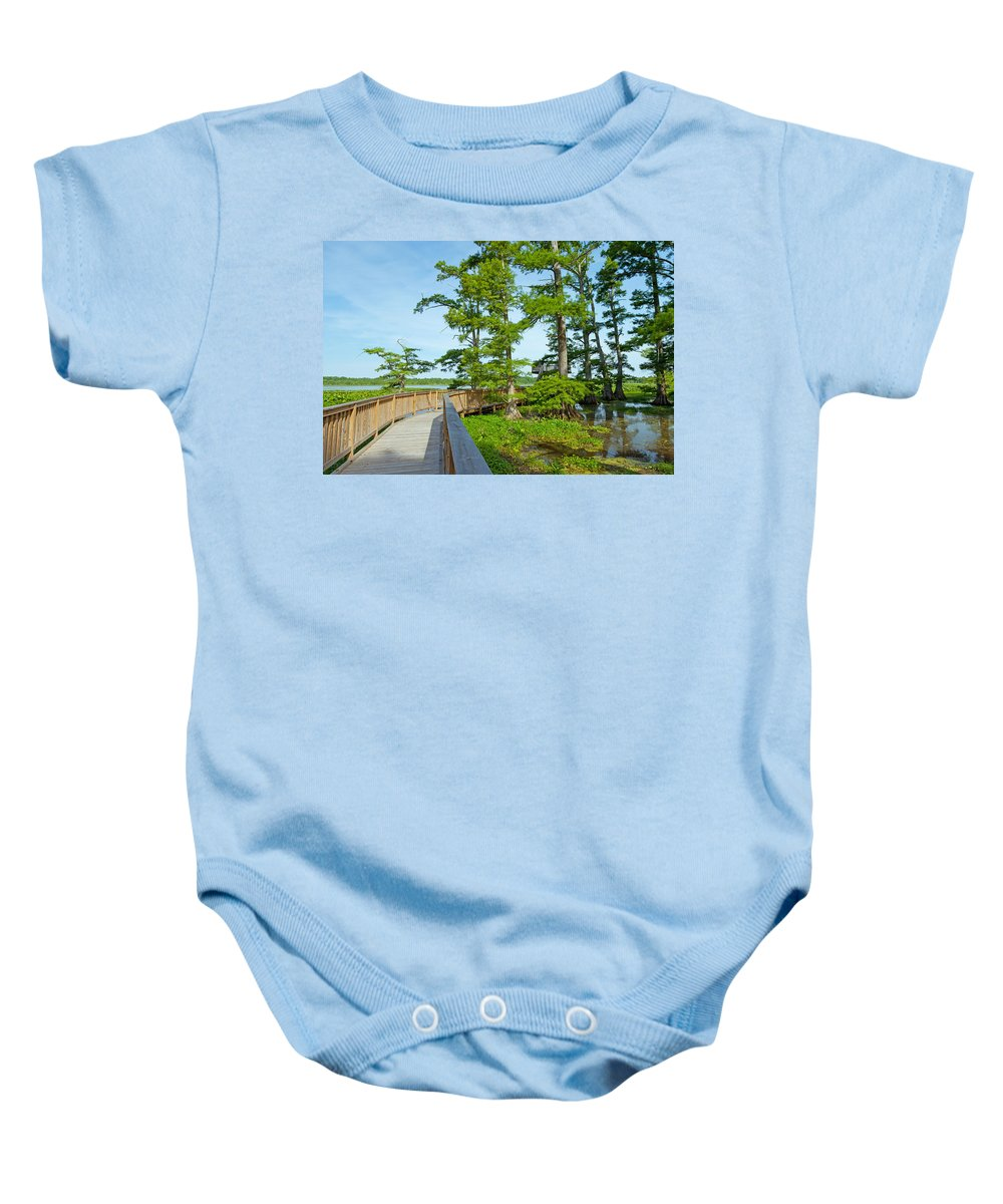 Reelfoot National Wildlife Refuge Baby Onesie featuring the photograph Reelfoot Lake by Melinda Fawver