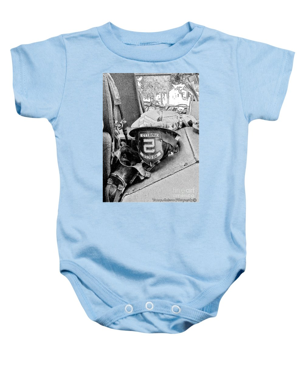 Fireman Baby Onesie featuring the photograph Rescue 2 by Tommy Anderson