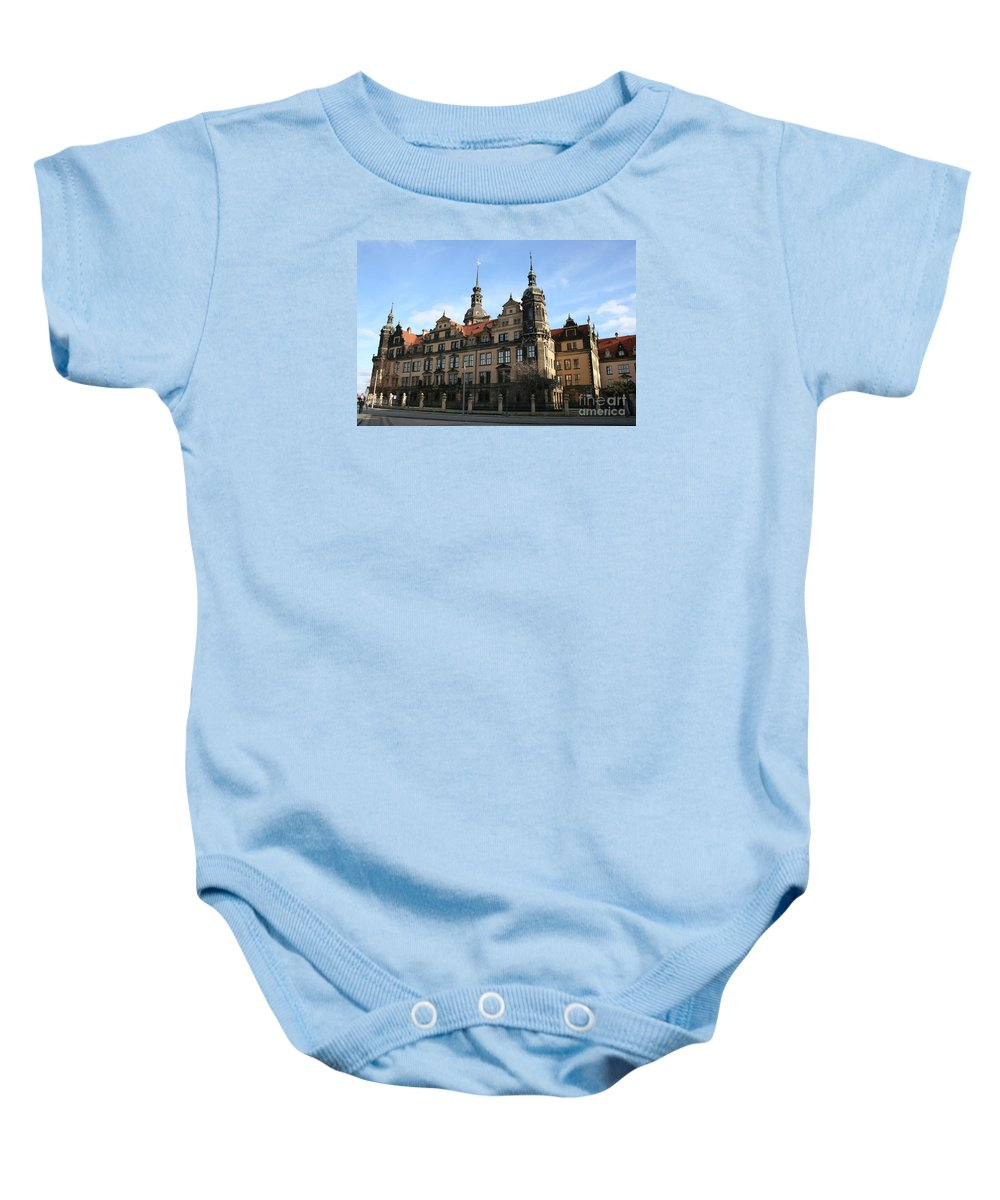 Palace Baby Onesie featuring the photograph Rezidenzschloss - Dresden - Germany by Christiane Schulze Art And Photography