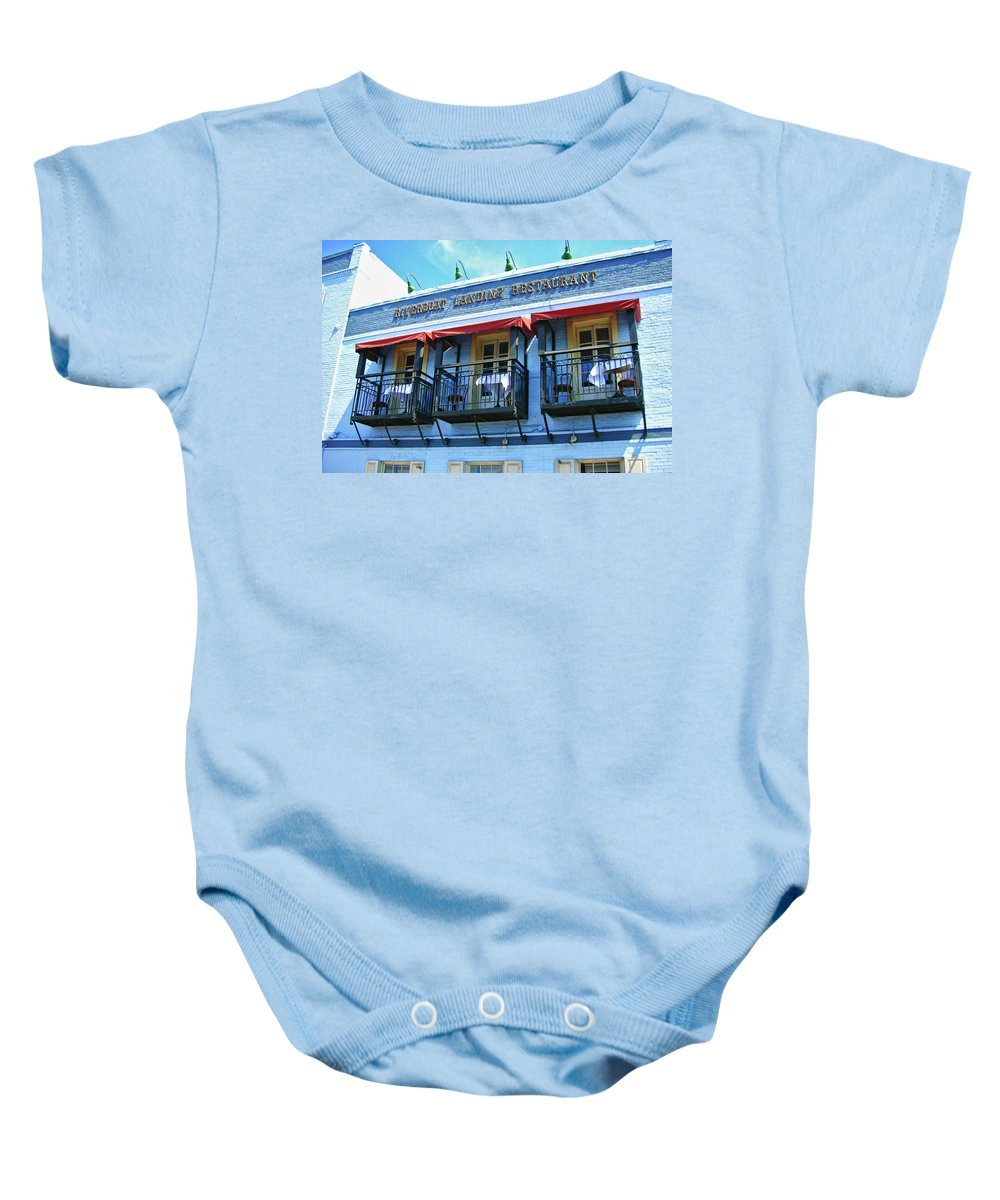 Water Street Baby Onesie featuring the photograph Riverboat Landing 0769 by Guy Whiteley