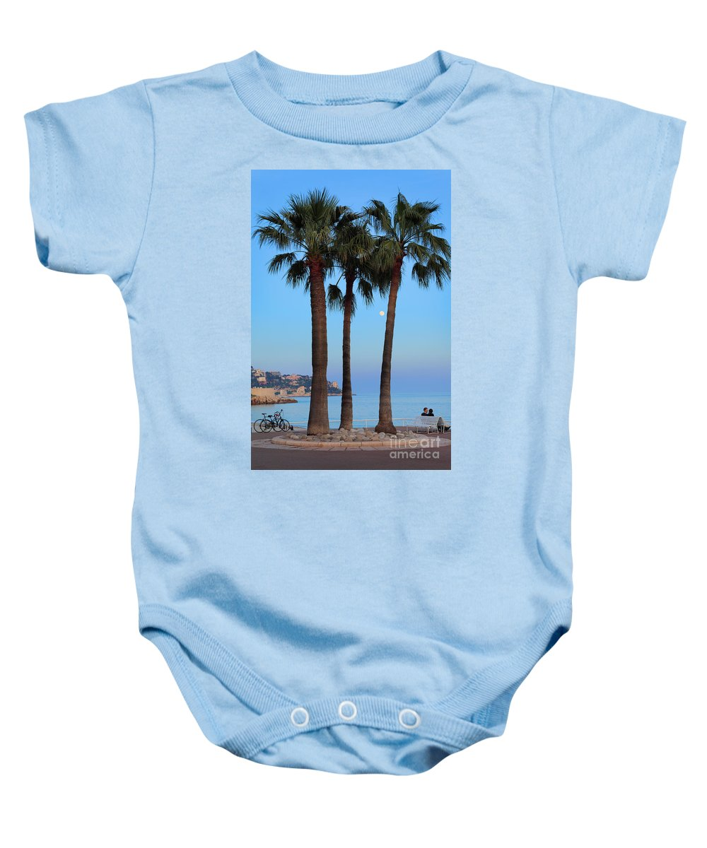 Cote D'azur Baby Onesie featuring the photograph Riviera Romance by Inge Johnsson