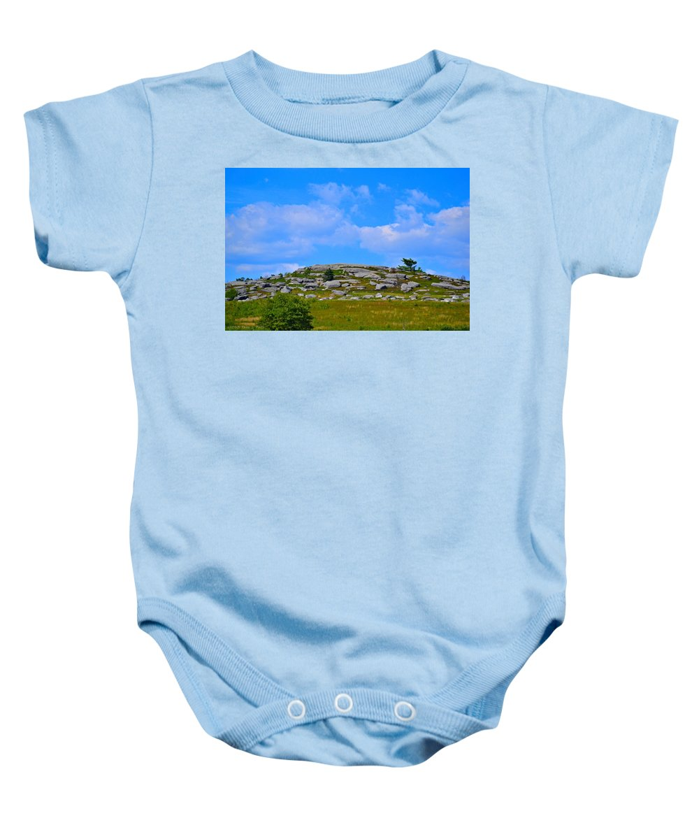 Rocky Baby Onesie featuring the photograph Rocky New England Hill by Tara Potts