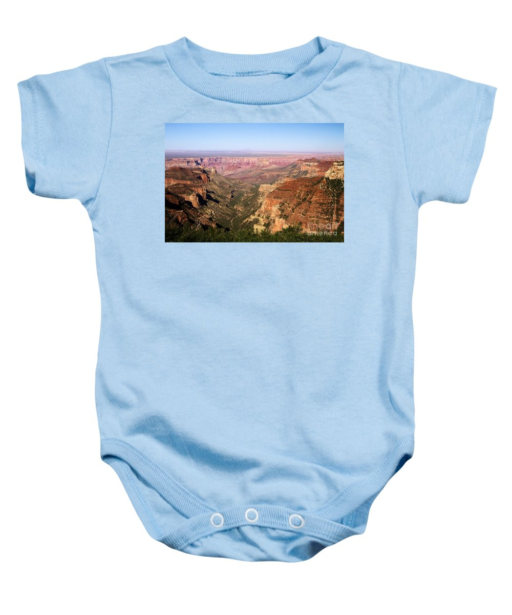 Roosevelt Point Baby Onesie featuring the photograph Roosevelt Point by Adam Jewell
