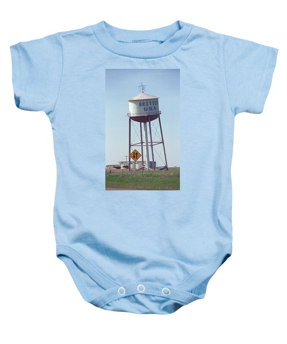 66 Baby Onesie featuring the photograph Route 66 - Leaning Water Tower by Frank Romeo