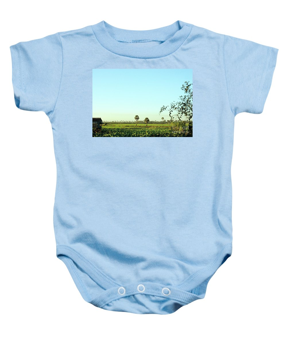 Cambodia Baby Onesie featuring the photograph Rural Cambodia by Rick Piper Photography