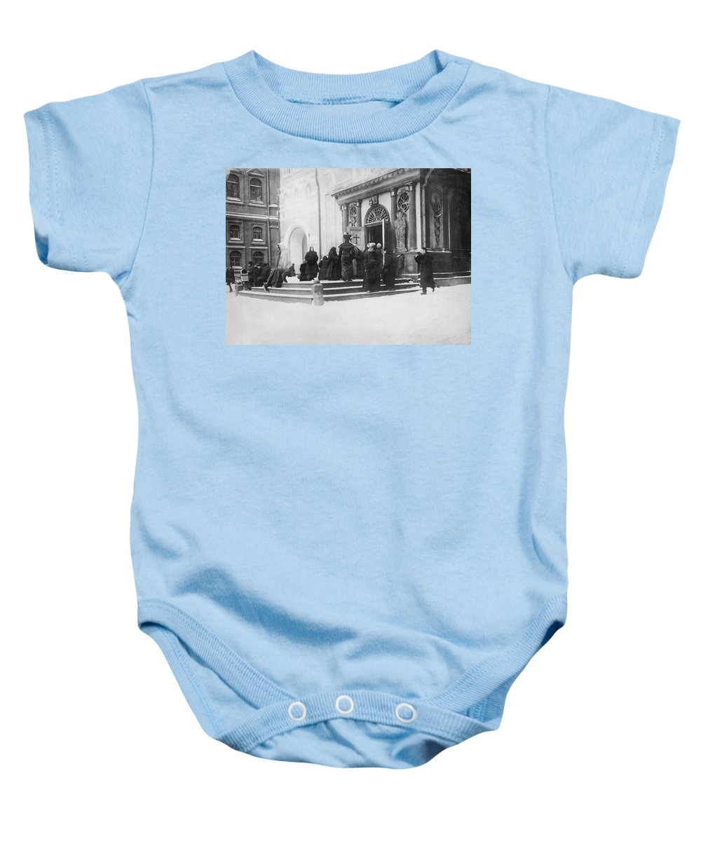 1915 Baby Onesie featuring the photograph Russians Pray For Wwi Victory by Underwood Archives