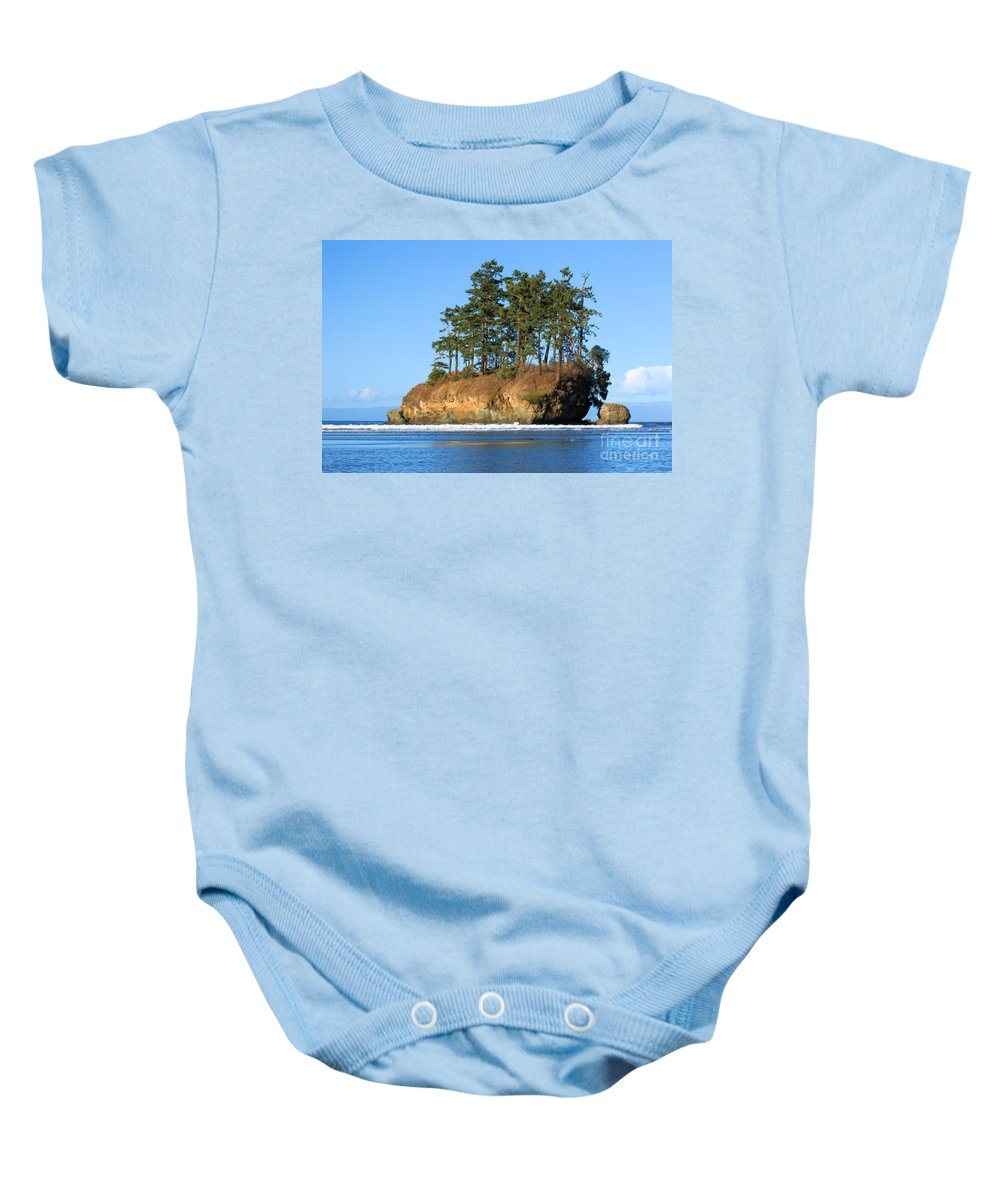 Salt Creek Recreation Area Baby Onesie featuring the photograph Salt Creek Sea Stacks by Adam Jewell