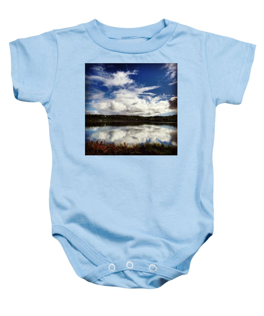 Anguilla Baby Onesie featuring the photograph Salt Pond Mirror by Kristin Bourne