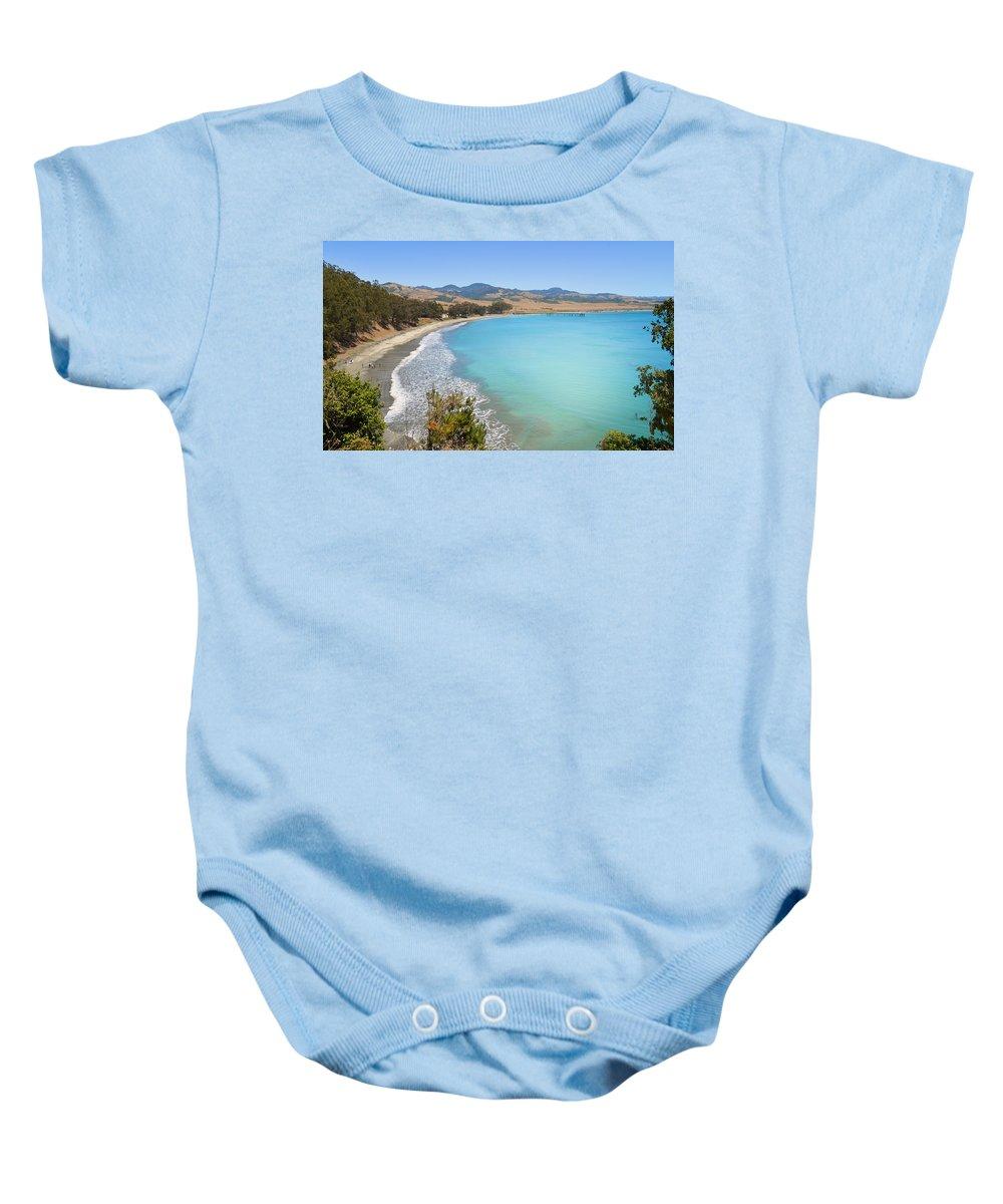 Blue Baby Onesie featuring the photograph San Simeon Bay by Lynn Bauer