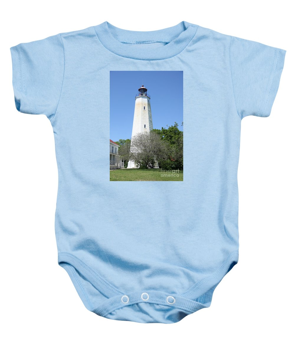 Lighthouse Baby Onesie featuring the photograph Sandy Hook Lighthouse II by Christiane Schulze Art And Photography