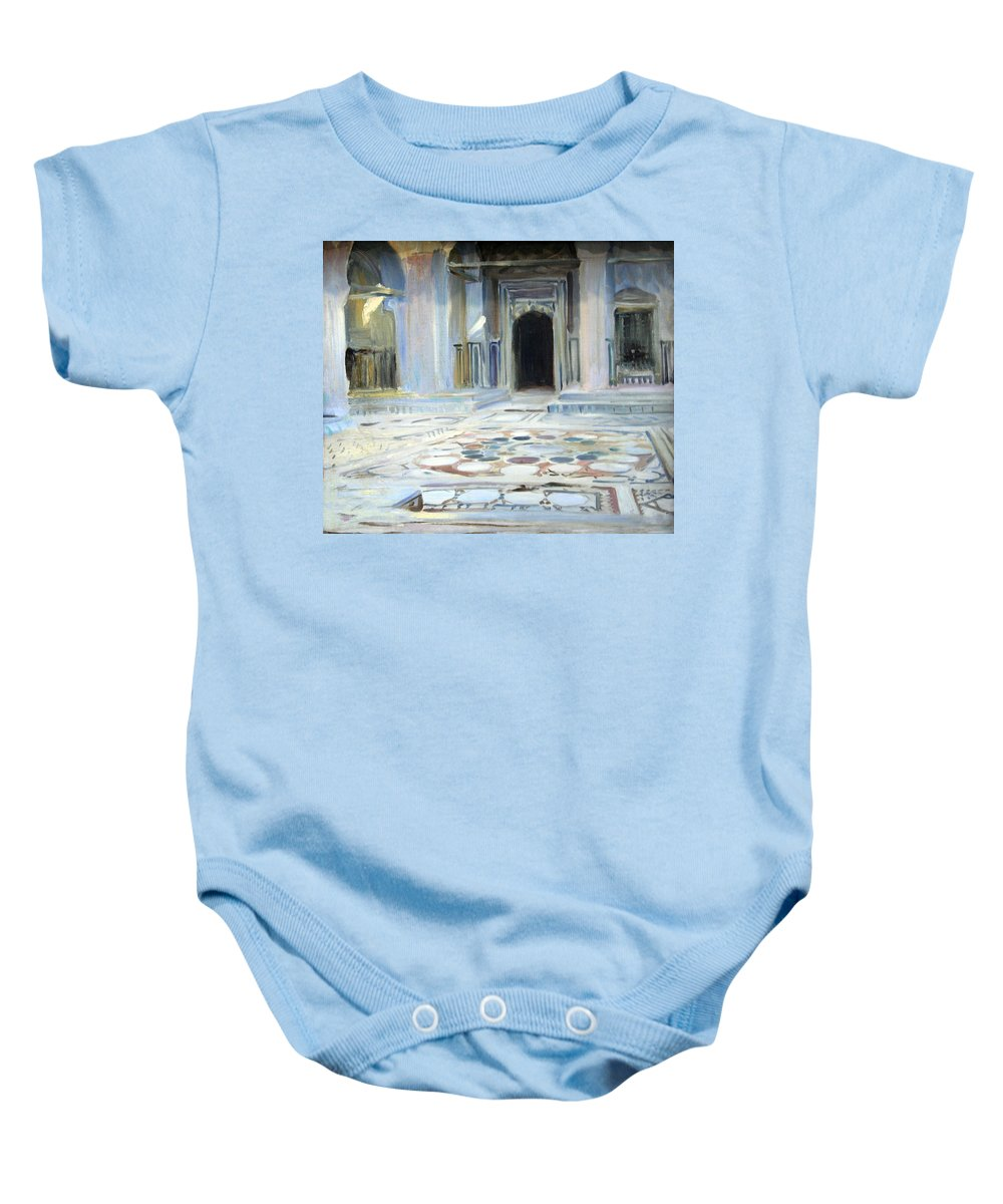 Pavement Baby Onesie featuring the photograph Sargent's Pavement In Cairo by Cora Wandel